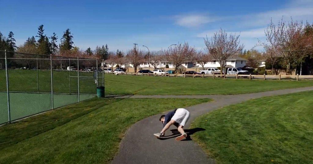 Keenan Beavis Falling on wheeled shoes